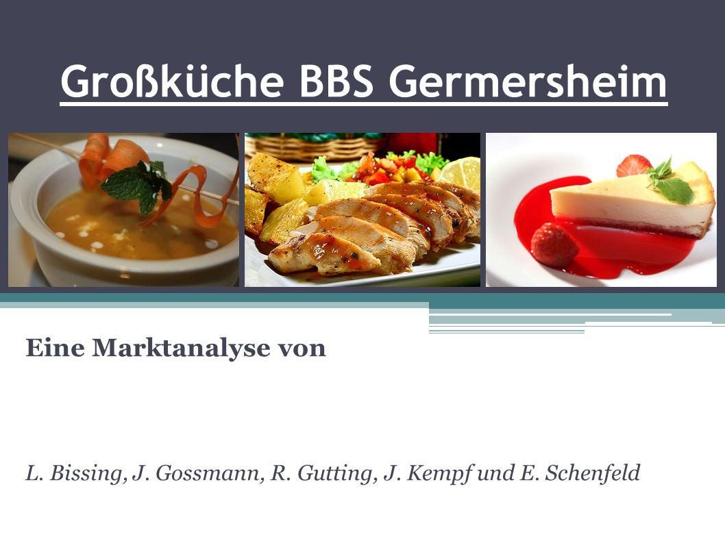 Großküche BBS Germersheim Eine Marktanalyse von L. Bissing, J. Gossmann, R. Gutting, J. Kempf und E. Schenfeld
