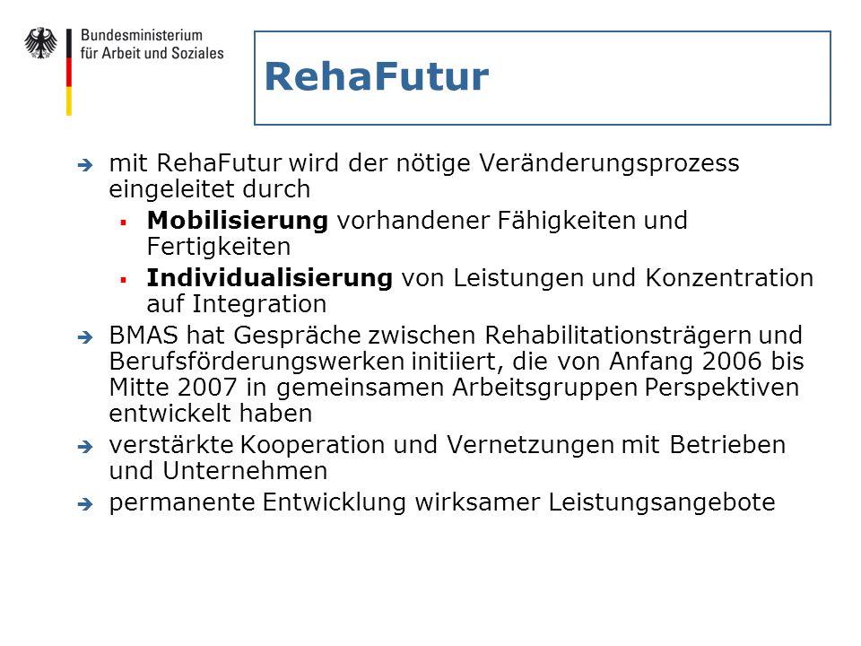 RehaFutur è mit RehaFutur wird der nötige Veränderungsprozess eingeleitet durch Mobilisierung vorhandener Fähigkeiten und Fertigkeiten Individualisier