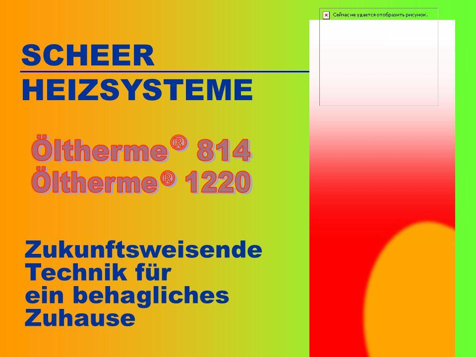 12 Die Mikroprozessor-Technik der SCHEER-Öltherme garantiert eine bedienerfreundliche und wartungsarme Regelung des Systems.