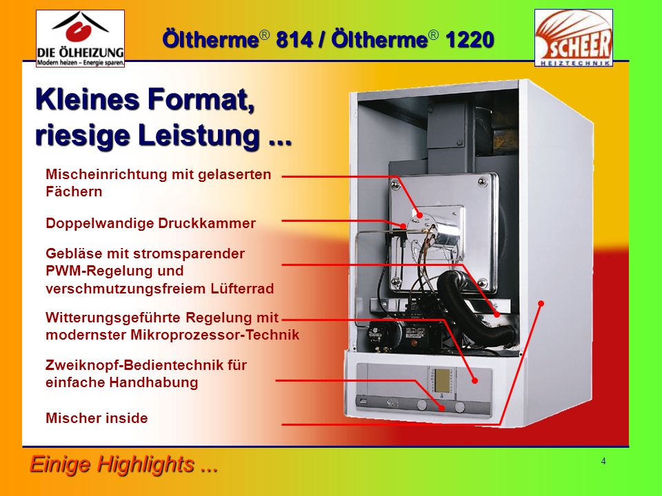 5 Öltherme 814 / Öltherme 1220 Öltherme ® 814 / Öltherme ® 1220...