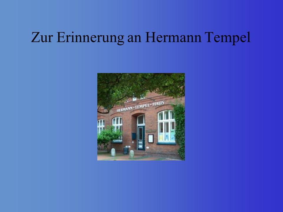 Quellen- und Literaturverzeichnis Dede, Klaus; Vahlenkamp, Werner: Hermann Tempel Leer.
