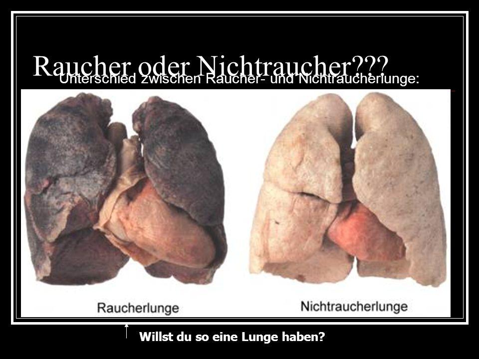 Raucher oder Nichtraucher??? Unterschied zwischen Raucher- und Nichtraucherlunge: Willst du so eine Lunge haben?