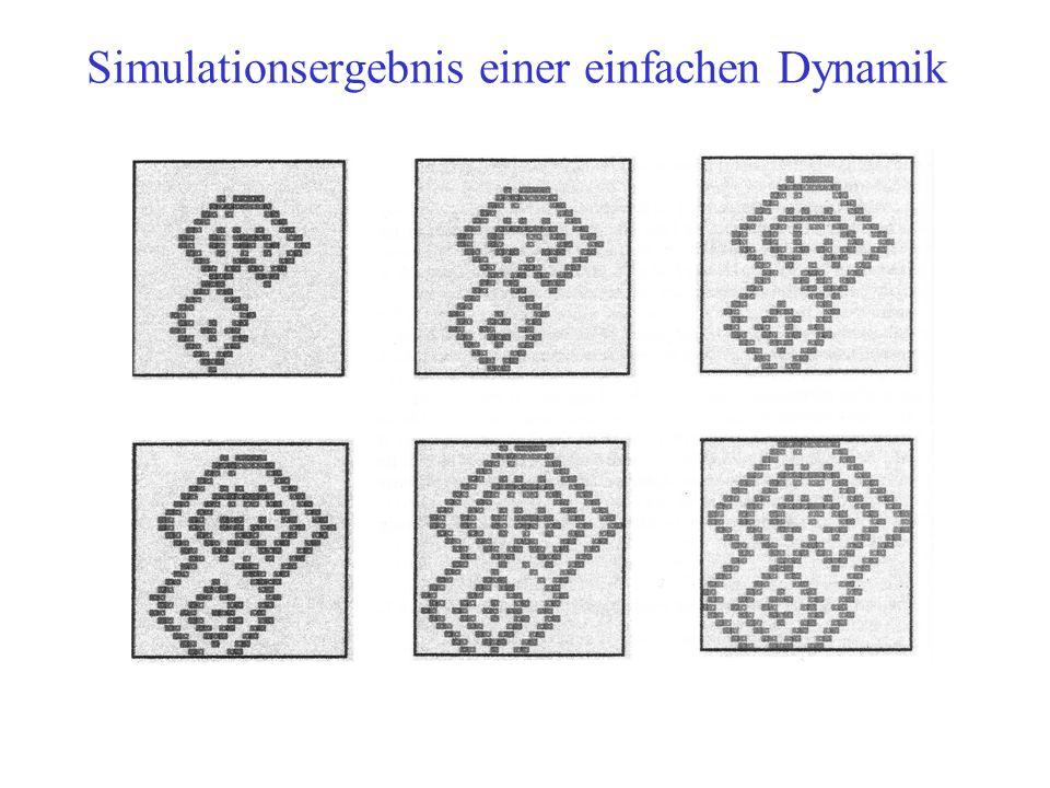 Simulationsergebnis einer einfachen Dynamik