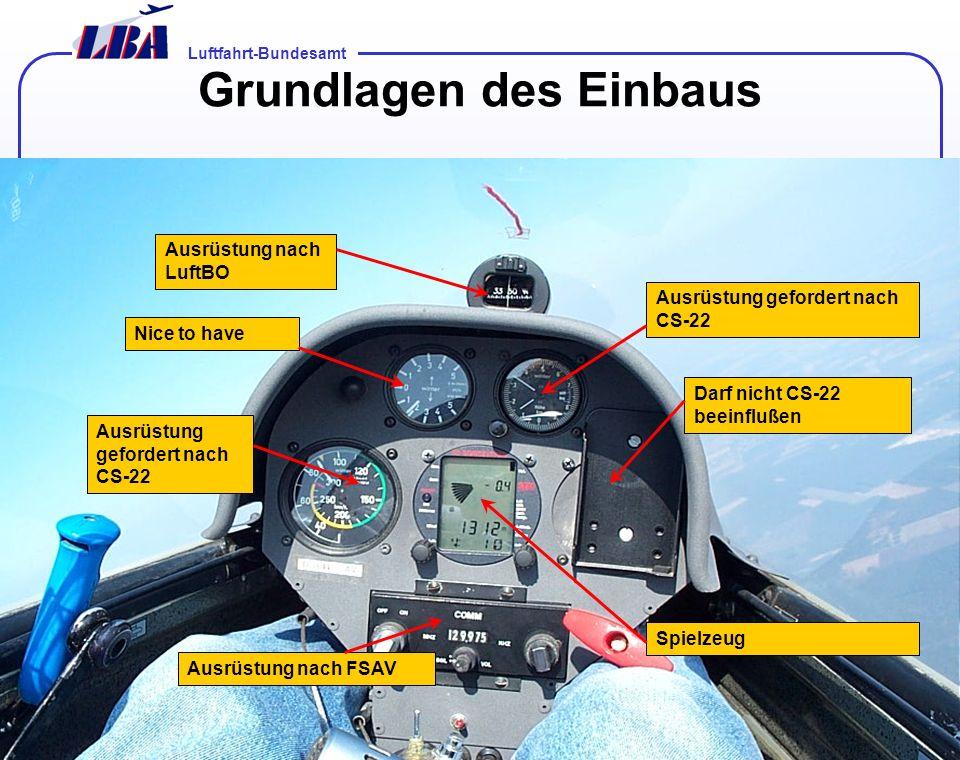 Luftfahrt-Bundesamt Folie 801.02.2014 Komponenten ETSO Keine bzw. Hersteller Non Interferrence basis Keine/ Owner ETSO Keine/ Owner