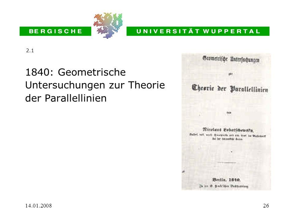 14.01.200826 1840: Geometrische Untersuchungen zur Theorie der Parallellinien 2.1