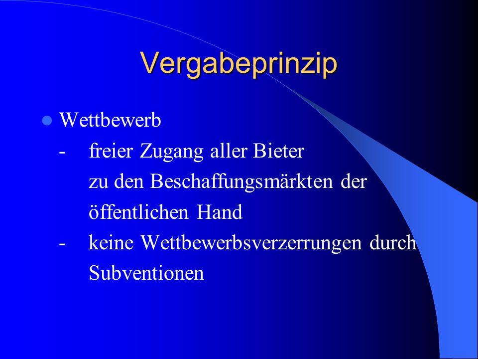 Rechtsschutz der Bieter oberhalb der Schwellenwerte Die Nachprüfung der Vergaben erfolgt gemäß § 104 Abs.