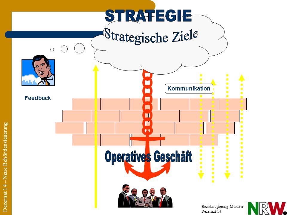 Dezernat 14 – Neue Behördensteuerung Bezirksregierung Münster Dezernat 14 Feedback Kommunikation