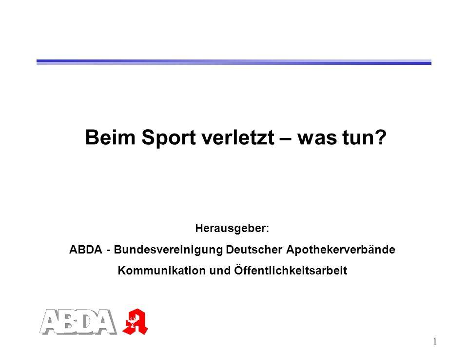 2 Sportunfälle Deutschland: etwa 1,5 Millionen Sportunfälle im Jahr etwa 30 Prozent aller Unfälle Risiko im Wettkampf deutlich höher als beim Training
