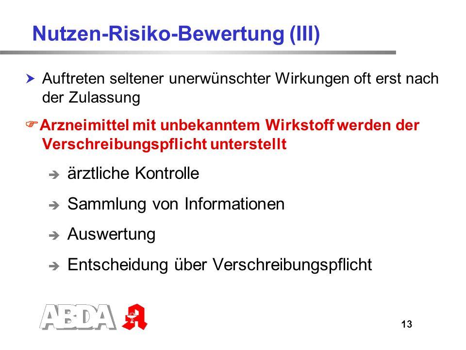 14 Arzneimittelrisiken Arzneimittelkommissionen der Ärzte und Apotheker Beobachtet von Ärzten bzw.
