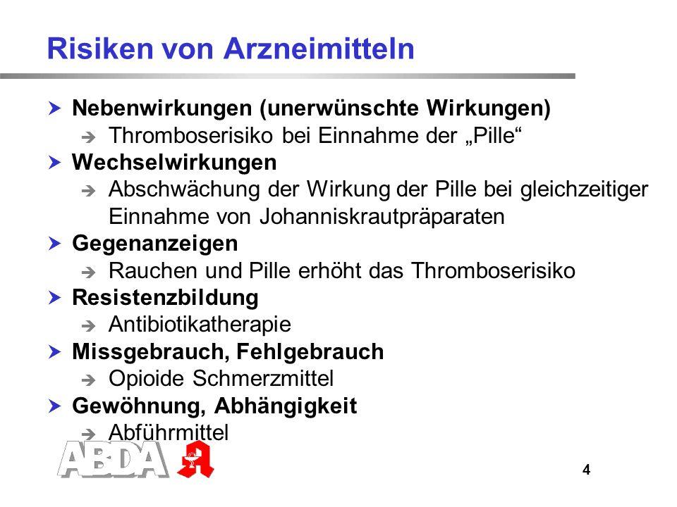 5 Unerwünschte Wirkungen Arzneistoffspezifisch, dosisabhängig Nebenwirkungsspektrum erklärbar und vorhersehbar Bei bestimmter hoher Dosierung bei jedem Menschen Stärke ist dosisabhängig z.