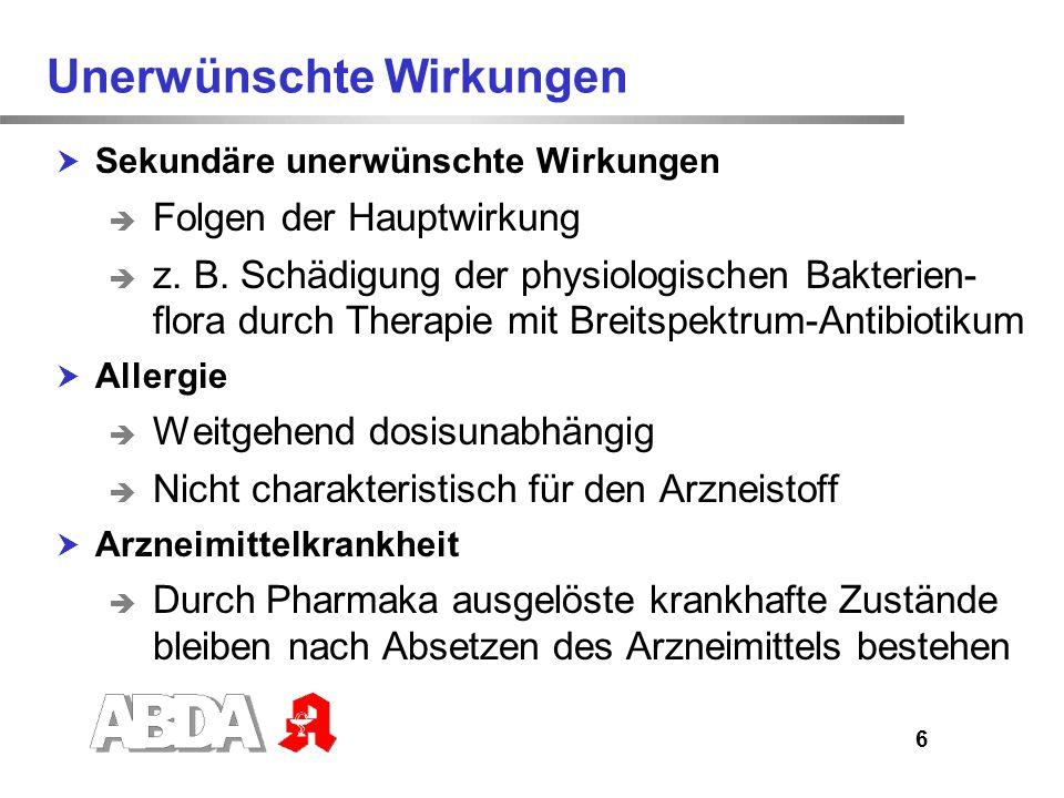 7 Beipackzettel Auflistung aller bekannten Nebenwirkungen des Arzneimittels Verunsicherung der Patienten Verpflichtung des Arzneimittelherstellers Hinweise zur Wahrscheinlichkeit, dass die Nebenwirkung auftritt