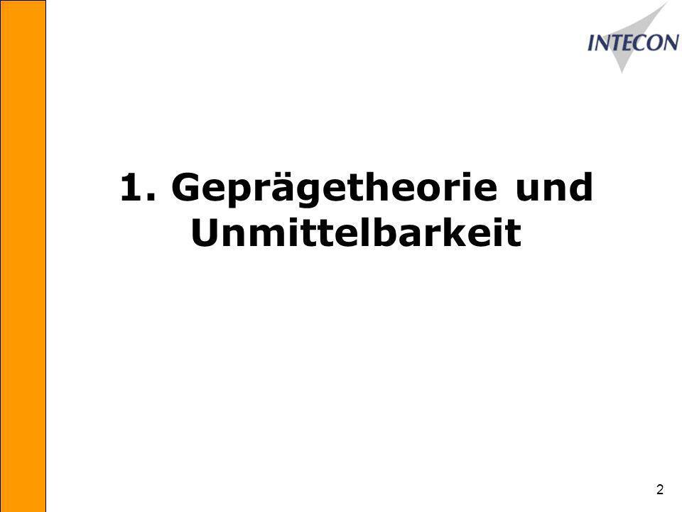 2 1. Geprägetheorie und Unmittelbarkeit