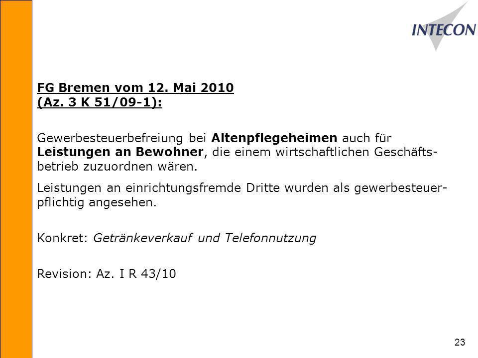 23 FG Bremen vom 12.Mai 2010 (Az.