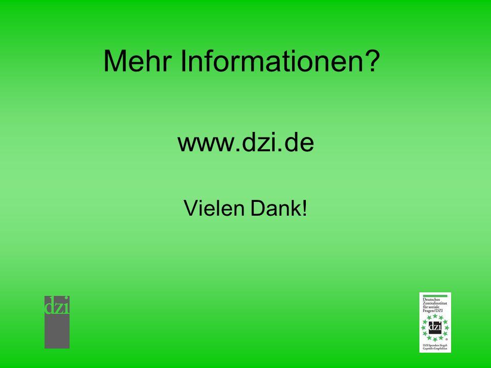 Mehr Informationen? www.dzi.de Vielen Dank!