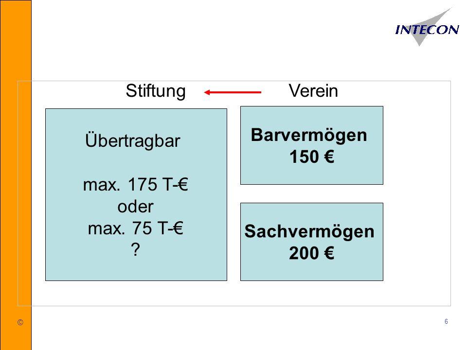 © 7 3.Gemeinnützigkeitsrechtliche Schranken der Stiftungskapitalausstattung a)Schranken des Umfangs des Mitteleinsatzes b)Schranken aus dem Grundsatz zeitnaher Mittelverwendung