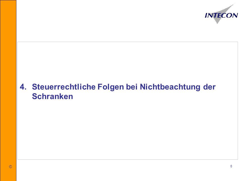 © 9 Für Rückfragen stehen wir Ihnen gerne zur Verfügung INTECON GmbH Wirtschaftsprüfungsgesellschaft Treuhand und Wirtschaftsberatung GmbH Steuerberatungsgesellschaft Parkstraße 40, 49080 Osnabrück Telefon: 0541/18193-0 Telefax: 0541/18193-499 E-Mail: info@intecon.de Internet: www.intecon.de
