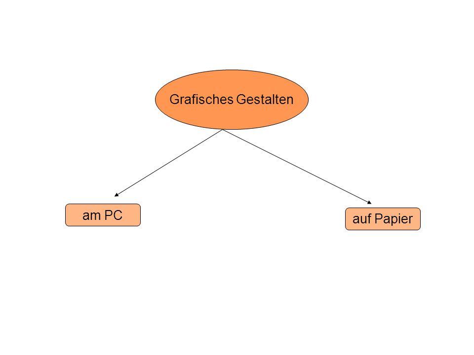 Grafisches Gestalten am PC auf Papier
