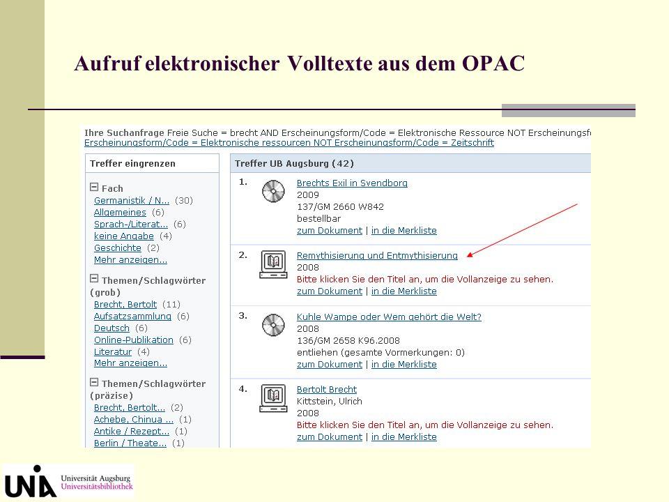 Kataloganreicherung: Anzeige des Inhaltsverzeichnisses Klick auf den Button oben rechts Anzeige von Inhaltsverzeichnis oder Beschreibung (= Klappentext).