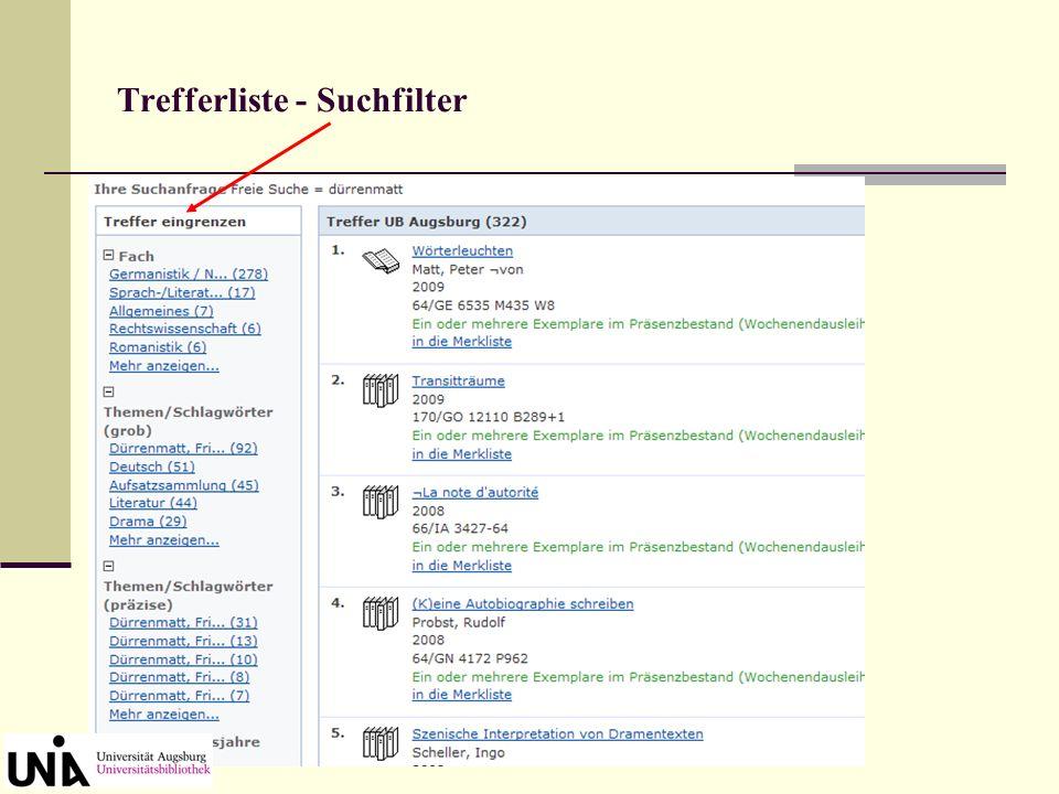 Schlagwortliste zur Auswahl Ankreuzen und Übernehmen Einzelne Werke Döblins zur Auswahl