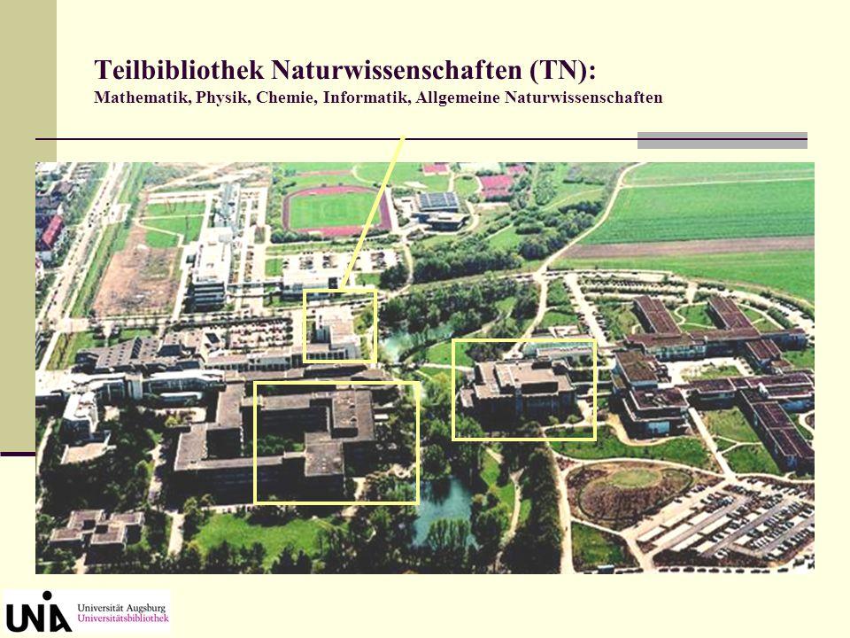 Die Bestände der UB Augsburg sind systematisch aufgestellt, d. h. nach einzelnen Fächern, z.B.: