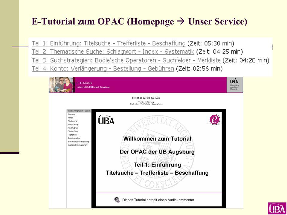 Wie lernt man mit dem OPAC umzugehen.