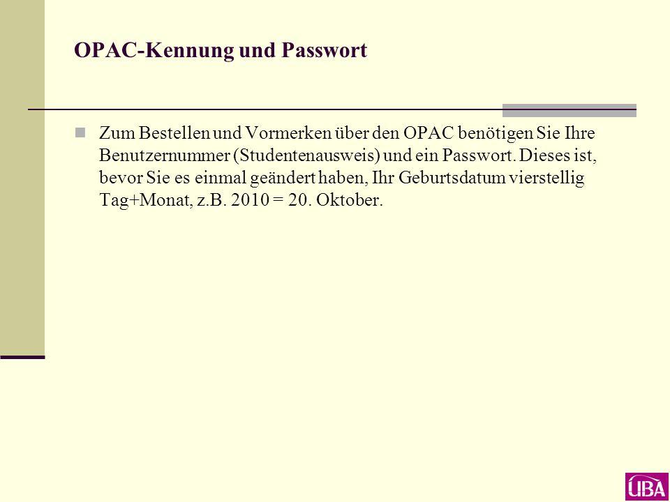 E-Tutorial zum OPAC (Homepage Unser Service)