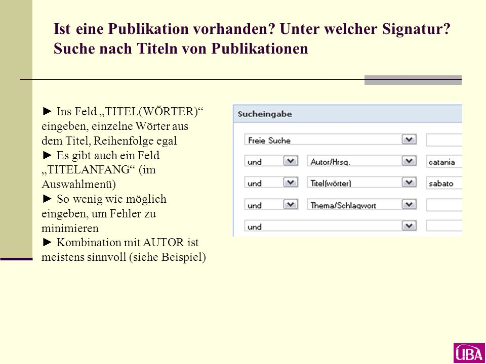 ins Feld AUTOR/HRSG.