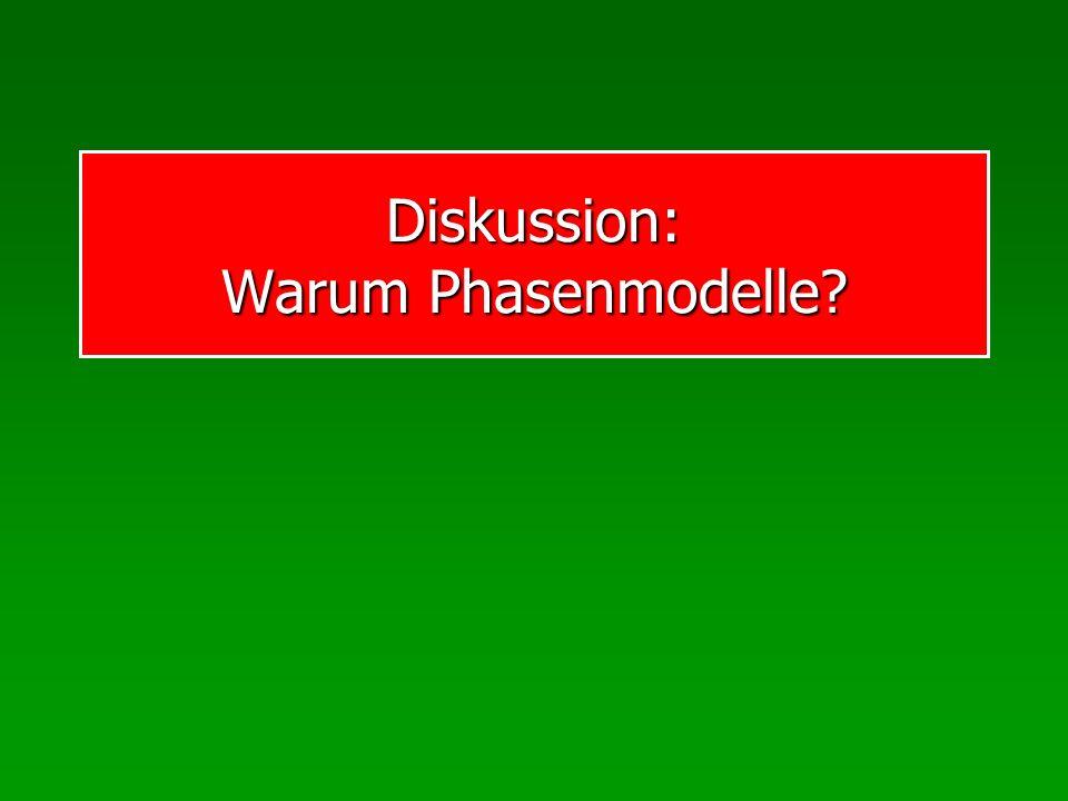Diskussion: Warum Phasenmodelle?