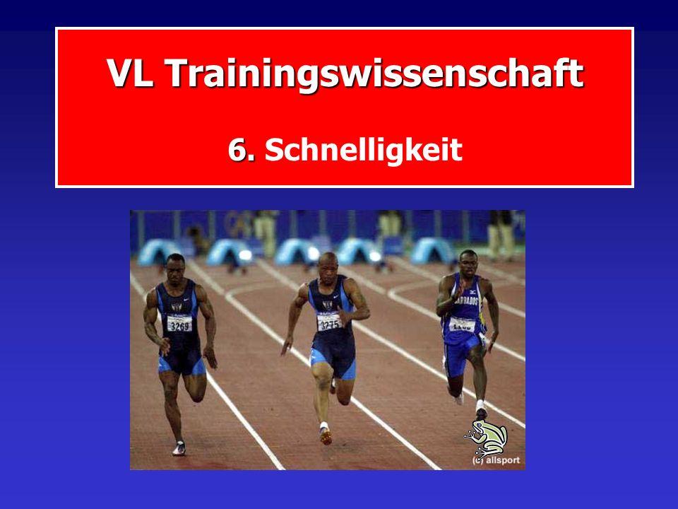 VL Trainingswissenschaft 6. VL Trainingswissenschaft 6. Schnelligkeit