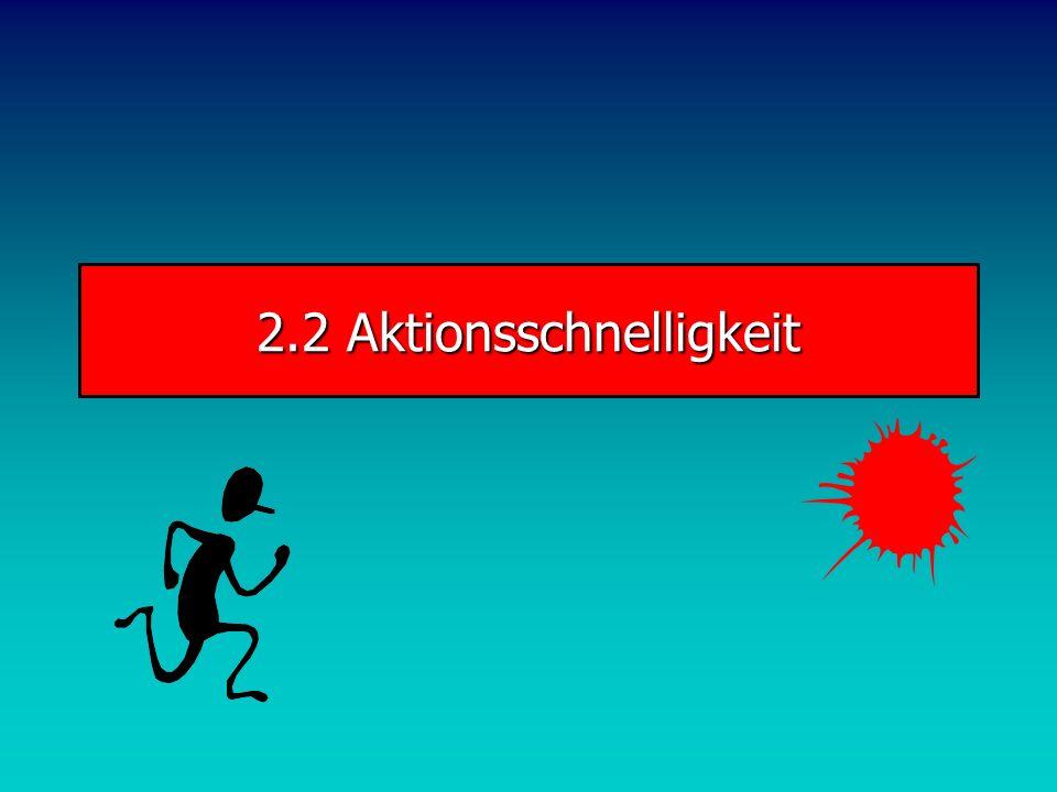 Schnelligkeit Reaktion im Tennis Flugdauer 1. Aufschlag: 0,8 sec Asche Flugdauer 1. Aufschlag: 0,6 sec Teppich Antizipation: Strategisch: Vor- oder Rü