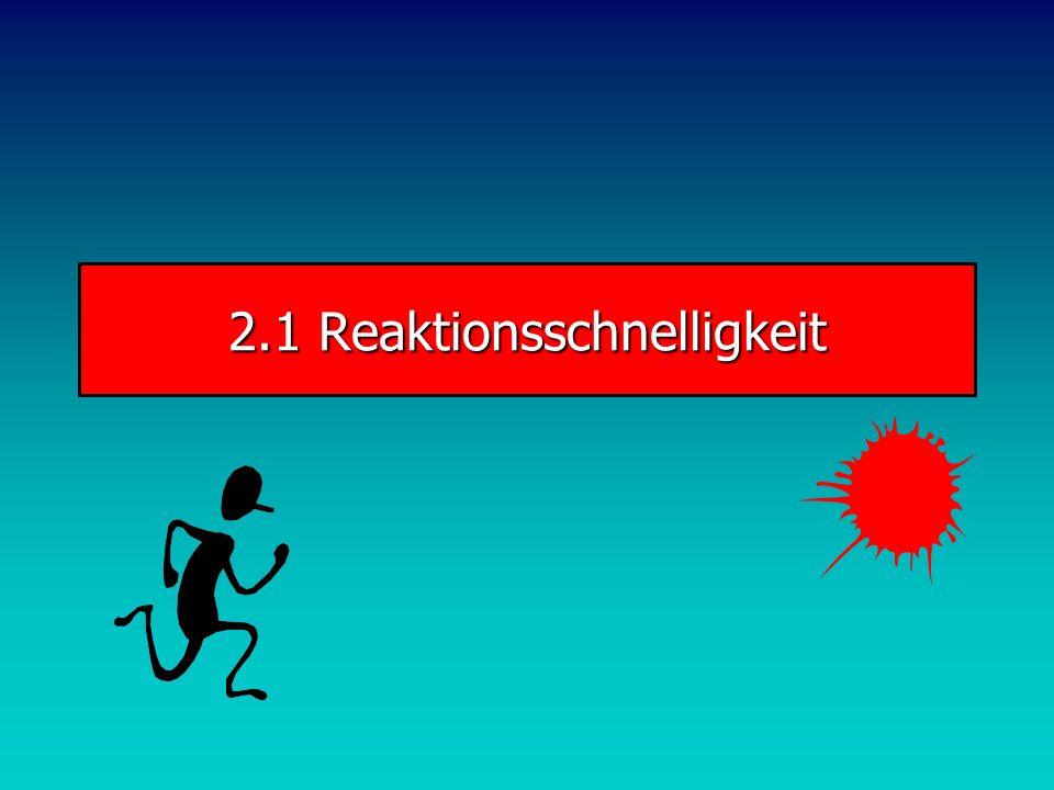Schnelligkeit Komplexe Schnelligkeit Elementare Schnelligkeit Struktur der Schnelligkeit 2 Reaktions- schnelligkeit Bewegungs- schnelligkeit Azyklisch