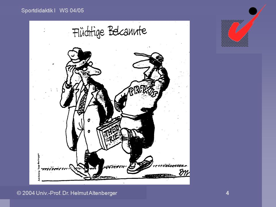 Sportdidaktik I WS 04/05 © 2004 Univ.-Prof. Dr. Helmut Altenberger 4