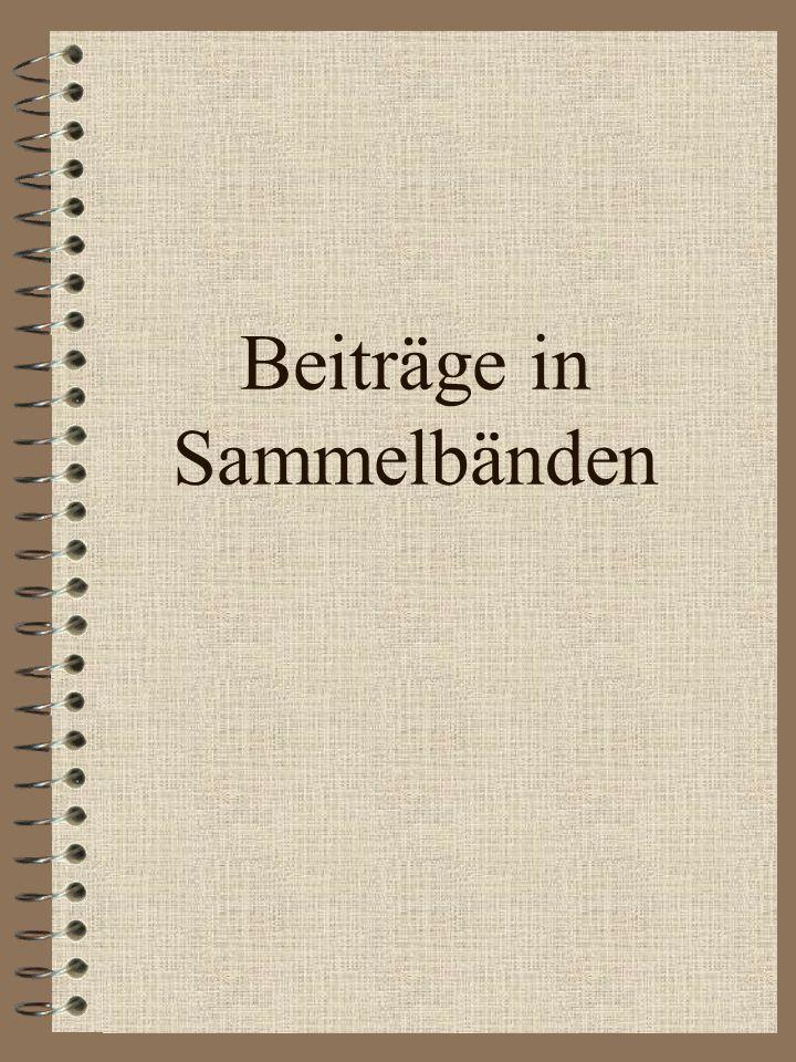 Zitationsstandard Monografie Nachname, V. (Jahr). Titel kursiv (ggf. Auflage). Ort: Verlag. Hohmann, A., Lames, M. & Letzelter, M. (2006). Einführung