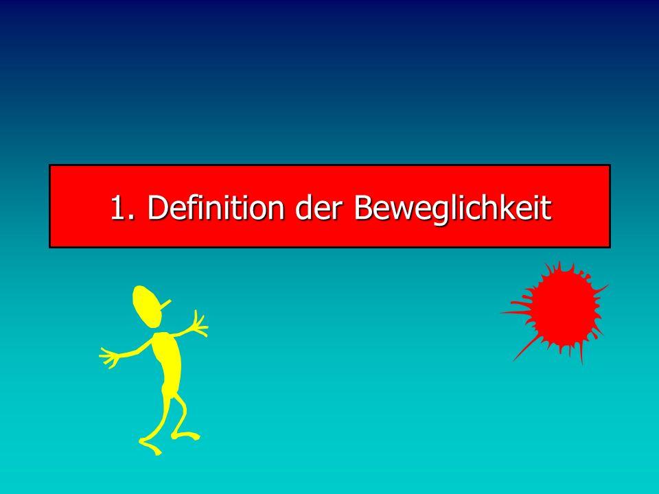 VL Trainingswissenschaft VL Trainingswissenschaft 7. Beweglichkeit