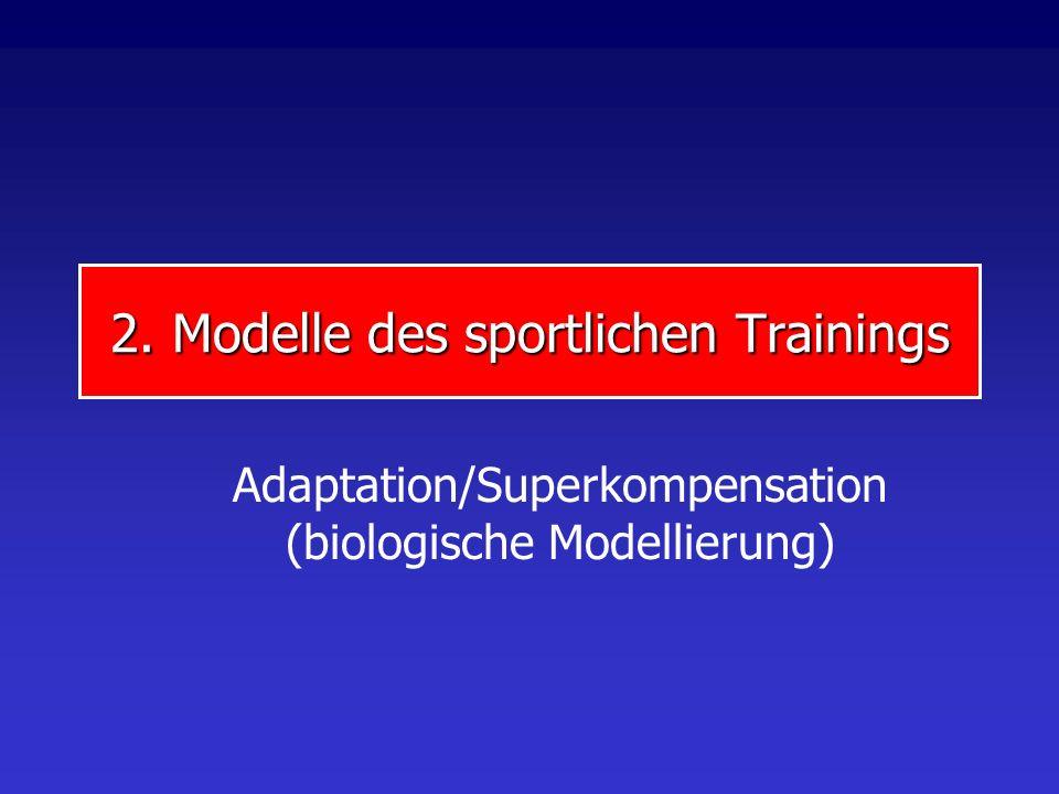 2. Modelle des sportlichen Trainings Adaptation/Superkompensation (biologische Modellierung)