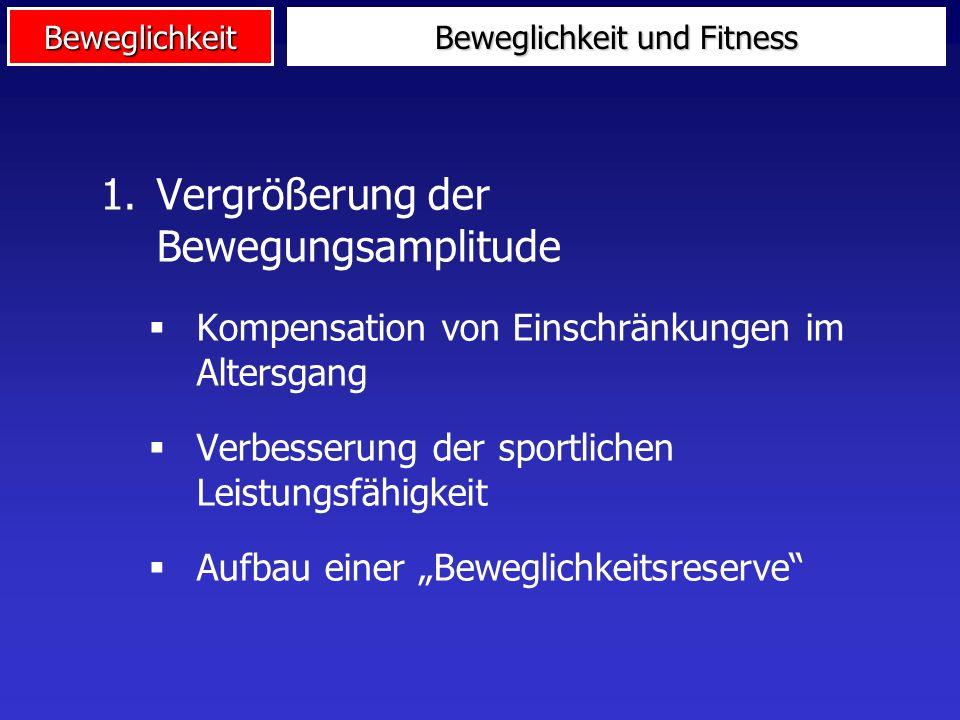 4. Beweglichkeit in Anwendungsfeldern Fitnesssport