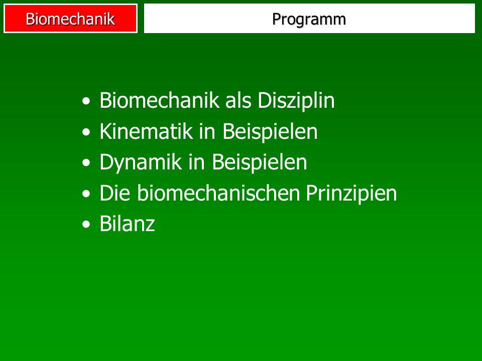 Biomechanik ProProette Lagemerkmale Golf