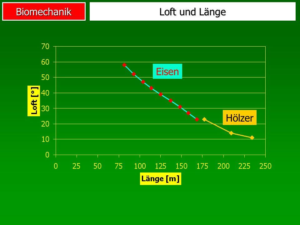 Biomechanik Loft und Länge Eisen Hölzer