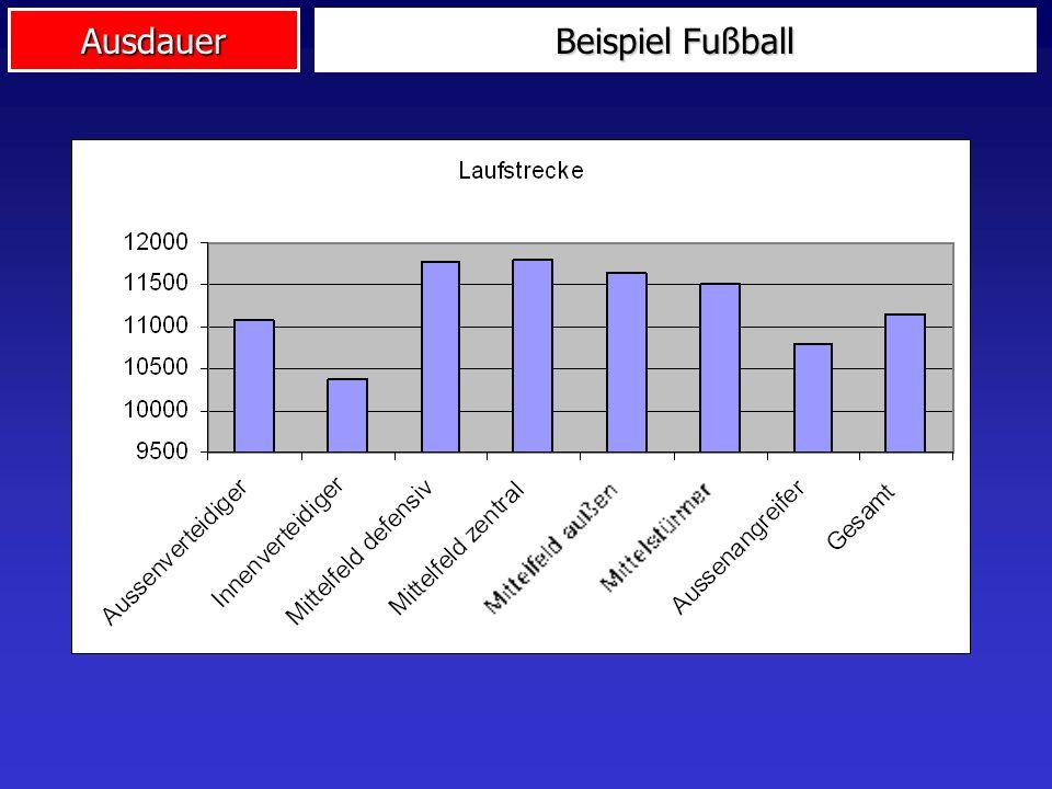 Ausdauer Beispiel Fußball