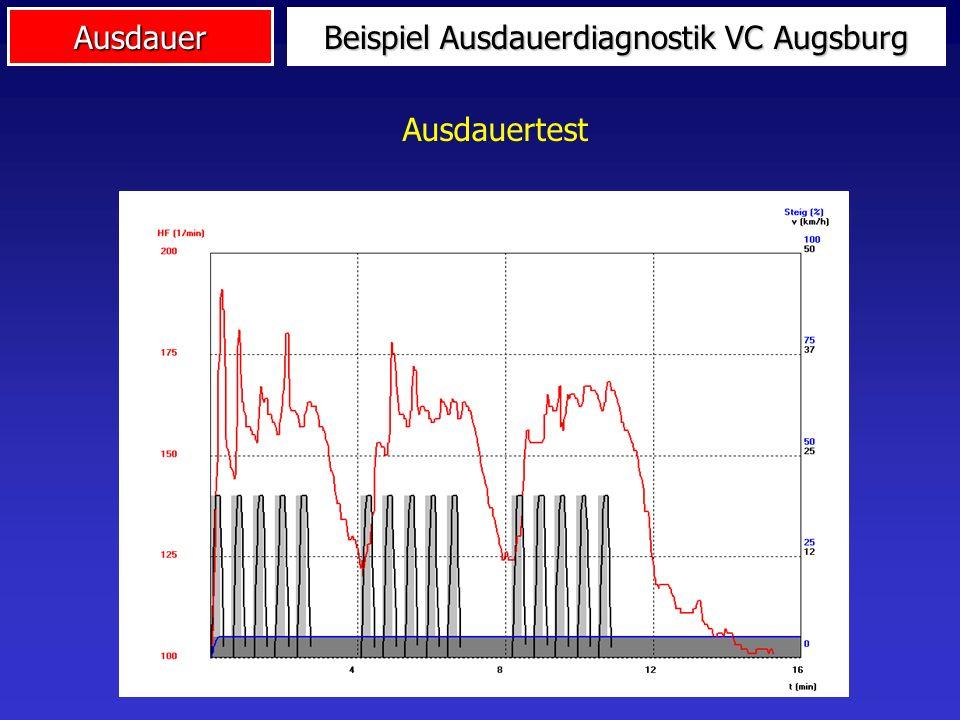 Ausdauer Beispiel Ausdauerdiagnostik VC Augsburg Ausdauertest