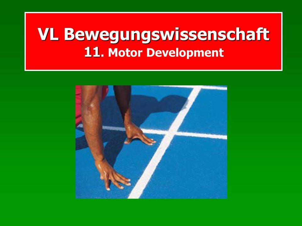 VL Bewegungswissenschaft 11 VL Bewegungswissenschaft 11. Motor Development