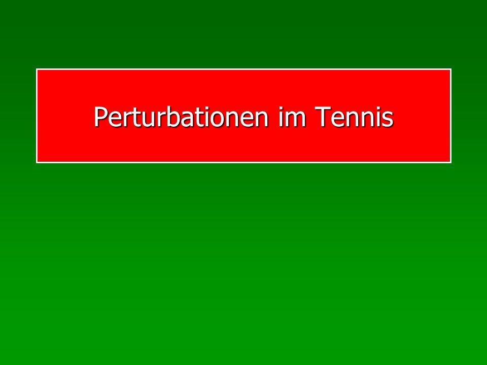 Perturbationen im Tennis