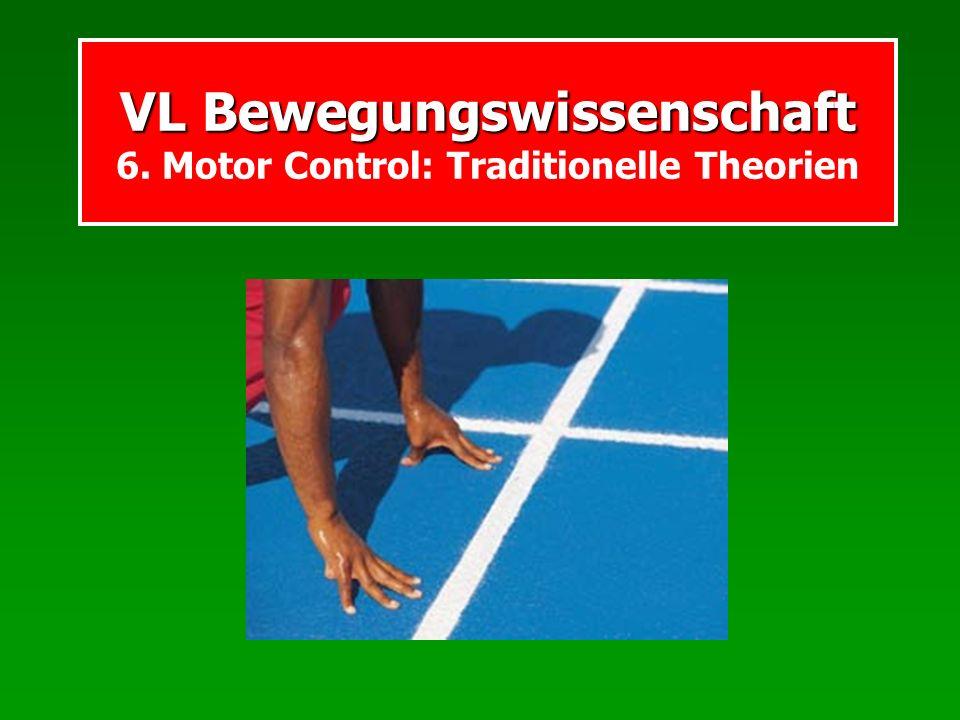 MC: Traditionelles Open-loop-Modell der Bewegung Steuerungs- zentrum Effektoren Bewegungskommandos Steuerung Efferenzen: Ausgehende Signale Bei sehr kurzen Bewegungen, t < 150-200msec z.B.