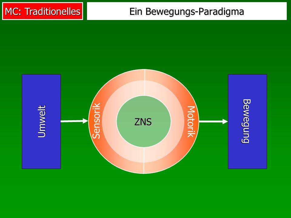 MC: Traditionelles Ein Bewegungs-Paradigma Umwelt Motorik Sensorik Bewegung ZNS
