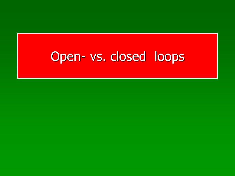 MC: Traditionelles Closed-loop Bewegungen Closed-loop kontrollierte Bewegungen beruhen auf der Regelung durch sensorische Rückmeldungen während der Bewegung.