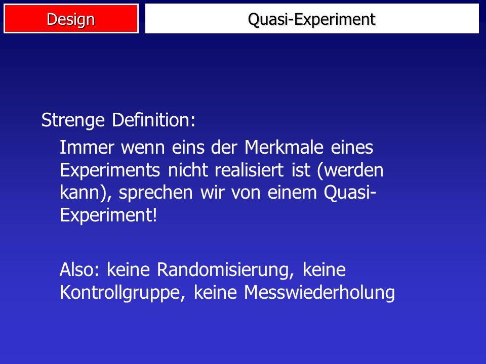 Design Quasi-Experiment