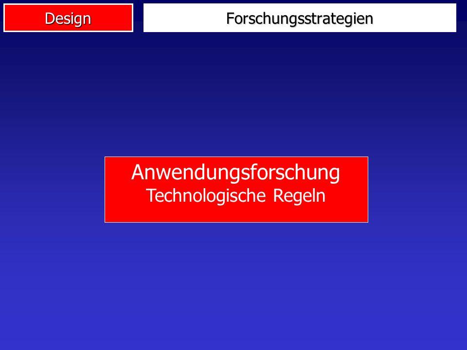 DesignForschungsstrategien Anwendungsforschung Technologische Regeln