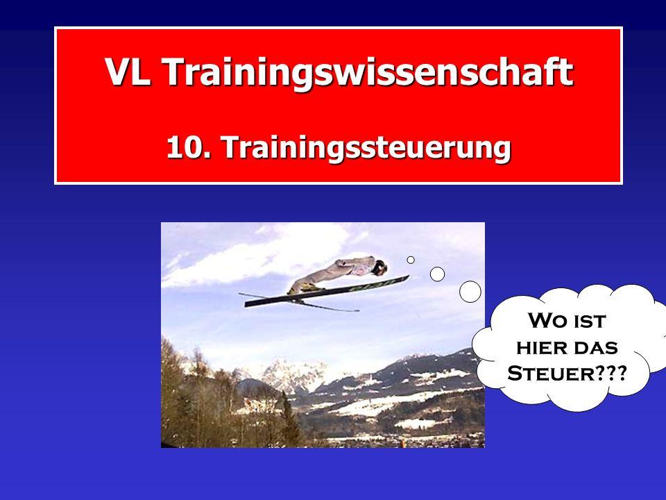 Trainingssteuerung Gegenstandsbereich der TRW Ansteuerung Trainingsziele Voraussetzung Anforderungen Bewährung Erfolg