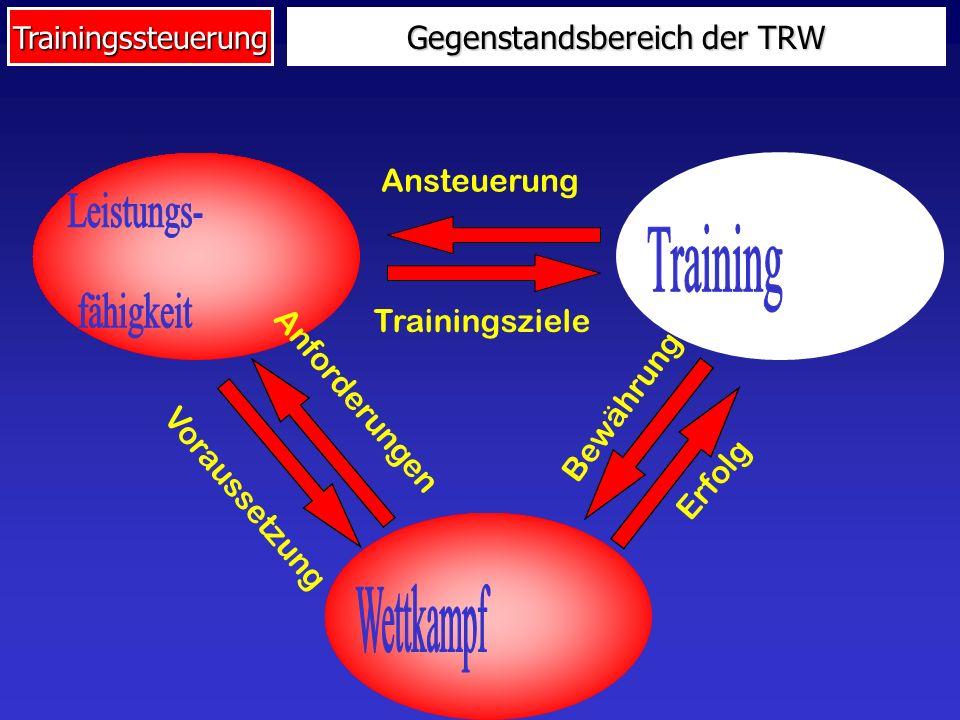 Trainingssteuerung Makrozyklen Mesozyklen Periode (12 Wochen) Mikrozyklen Zyklisierung des Trainings