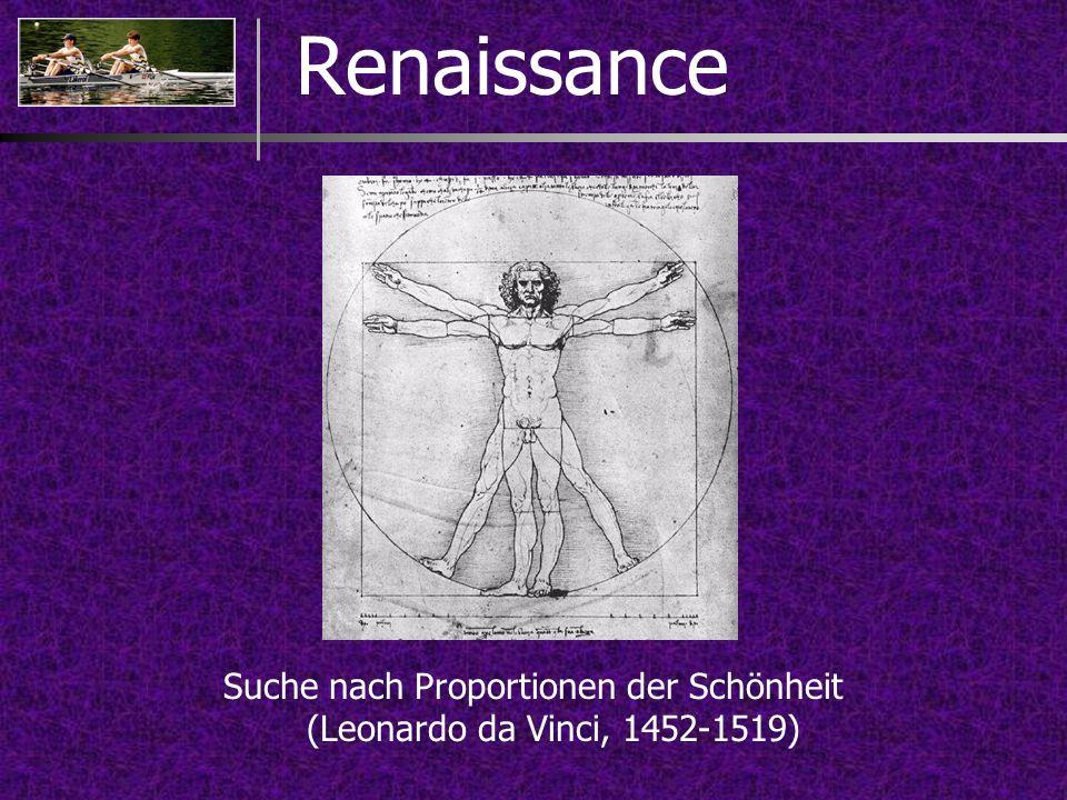 Renaissance Suche nach Proportionen der Schönheit (Leonardo da Vinci, 1452-1519)